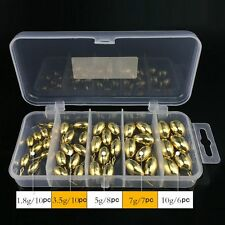 41PCS Assorted Fishing Tool Set Tackle Box Full Loaded Lure Bait Hooks Sinker