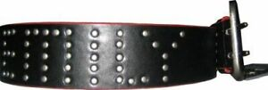 Juniors Women's Black Emily the Strange Leather Belt with EMILY in Studs Studded