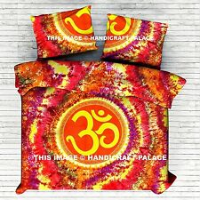 Indian Boho Hippie Om Mandala Bedding Set Queen Size Bed Sheet Bed Cover Throw