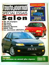 L'AUTO-JOURNAL du 10/1992 Spécial Essai Salon/ ZX/ XM/ Safrane/ BMW 730 i