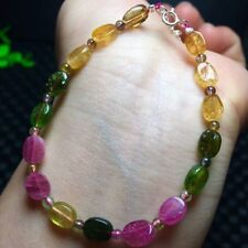 Beads Bracelet Aaa Natural Multi-Color Tourmaline Crystal