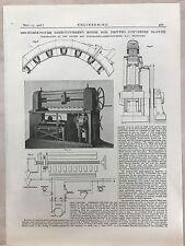 2000 Horse Power Direct Current Motor Frankfurt: 1908 Engineering Magazine Print