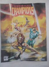 61691 Instruction Insert Poster - Eternal Champions - Sega Mega Drive (1993) 670