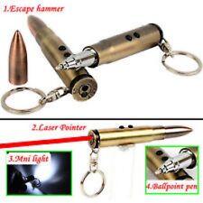 Key Chain--Bullet--Ball Point Pen/Flashlight/Laser Light