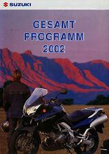 Suzuki Prospekt Motorräder 2002 DR-Z 400E Burgman AN SV650 Freewind XF 650 GS500