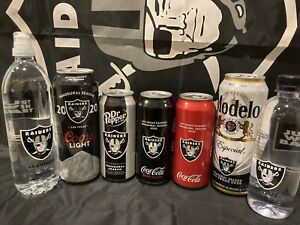 Vegas Raiders 2020 Limited Cans: Coors LT,Modelo, Coke & DP, and 2 Water Bottles