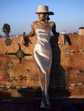 rat and boa Lumina Gold Slip Dress, Size Medium, Maxi Length, NWT, New.