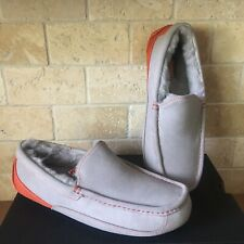 UGG ASCOT SEAL ORANGE SUEDE SHEEPSKIN SLIPPERS MOCCASINS SHOES SIZE 8 MENS