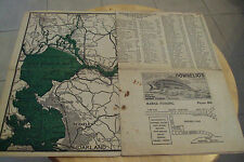 "VTG 1933 TIDE Tables/MAP San Francisco Bay Delta~""STRIPPED BASS FISHING""~"