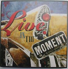 Iron Tin Metal Sign Home Kitchen Live in the moment Chevy Antique Decor wall art