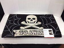 New Harley Davidson Skull Go Away Doormat Coco Coconut Coir Rug Mat Halloween