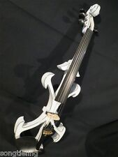 Best SONG Top art Crazy-2 white 5strings 4/4 electric violin,solid wood #9520