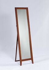 Kings Brand Furniture - Brown Finish Wood Frame Floor Standing Mirror