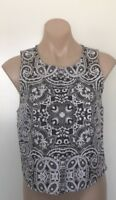 THURLEY TOP SIZE 12 BLACK AND PEARL COCKTAIL OFFICE WEAR TOP RRP $199.95