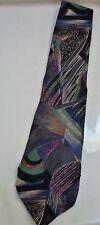 Franco Fossi XL Silk Tie from Italy - Multi-color