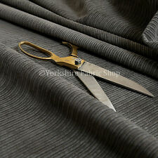 Soft New Pencil Pin Striped Corduroy Upholstery Fabric Material Charcoal Colour