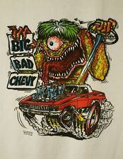 VINTAGE Big Daddy PRE-OWNED Rat Fink Big Bad Chevy Moon Eyes 96 Size Large T-S