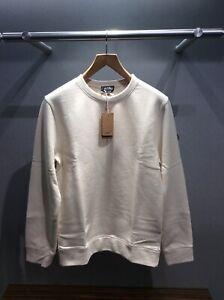 APC Natural Fiber Col Ecru Mens Sweatshirt RRP£150.00 Size L