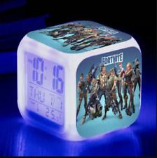 Custom Led Alarm Clock Light 7 Color Changing LCD Display