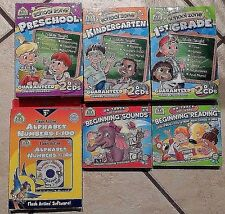 School Zone Interactive Preschool Kindergarten 1st Grade Lot of 6 CDs Software