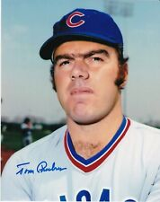TOM PHOEBUS  CHICAGO CUBS  ACTION SIGNED 8x10