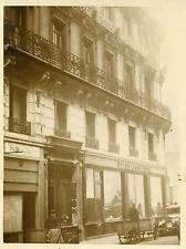 Paris, siège social de la Banque des fonctionnaires Vintage silver print Tir