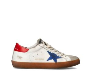 Shoes GOLDEN GOOSE Man Sneakers trendy BIANCO Fabric,Natural leather GMF00101-35