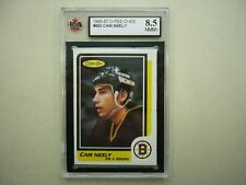1986/87 O-PEE-CHEE NHL HOCKEY CARD #250 CAM NEELY KSA 8.5 NMMT+ SHARP+ 86/87 OPC