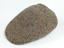 "LL Bean England Harris Tweed 10% Wool Driver Newsboy Hat Cap (Size: 7 5/8"")"
