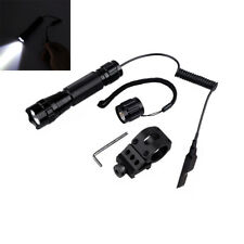 "1000LM Tactical LED Flashlight with 1"" inch Offset Weapon Picatinny Rail Mount"