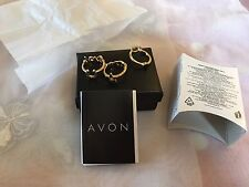 New Avon Mirren Stackable Rings Size 8 Q On Gauge Rings Wish Luck Love. ...