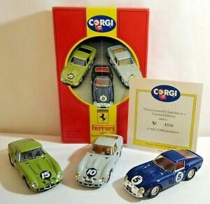 CORGI 1:43 FERRARI 1962 TOURIST TROPHY SET - FERRARI 250 GTO x3 - 97690 - BOXED