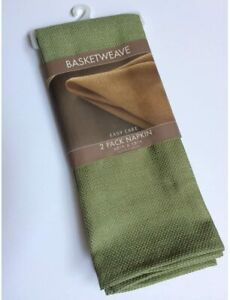 "Basket weave Napkins set of 2 ""Sage"" Color"