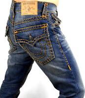 True Religion Men's Hand Picked Relaxed Skinny Super T Brand Jeans - 101358