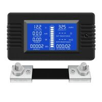 5X(DC Multifunction Battery Monitor Meter LCD Display Digital Current Volta1M1)