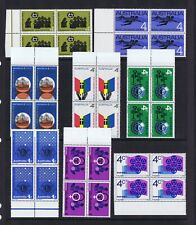 #0866 Australian Decimal Stamps 1966 and 1967 4c Commems (8) Marginal Blocks 4