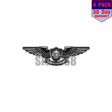 Navy Enlisted Aviation Warfare Specialist 4 pack 4x4 Inch Sticker Decal