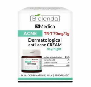 Bielenda Dr Medica Anti Acne Face Cream Oily Skin Moisturiser Matte Day Night UK