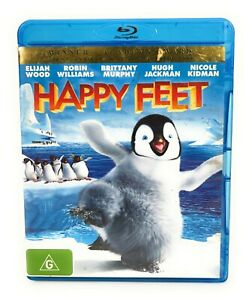 Happy Feet (Blu Ray, 2006) Elijah Wood Region B Free Postage