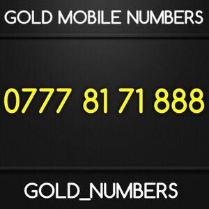 GOLD 0777 EASY MEMORABLE GOLDEN MOBILE NUMBER GOLD SIM 07778171888