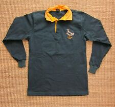 Invictus 2009 South Africa Green Yellow Long Sleeve Polo Rugby Shirt Men M