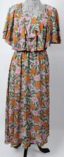 Vintage 70's Nicole Miller for P.J. Walsh New York Abstract Floral Dress ILGWU