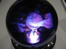 Glass Eye Studio celestial series Paperweight Full Moon 2210/W Light Base