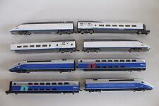 """5406/6 - Beau liasse avec mehano h0 moteurs trains """"AVE"""" et """"SNCF""""!"""