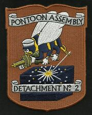 US NAVY - PAD - Pontoon Assembly Detachment No 2 SEABEE Military Patch
