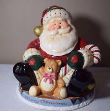 2005 Fitz and Floyd Fireplace Santa Ceramic Cookie Jar 619/116