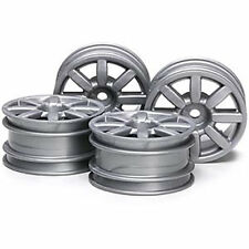 TAMIYA 51334 M-Chassis Flat 8-Spoke Wheels 4 Pcs. (Silver) (M03/M04/M05/M06)