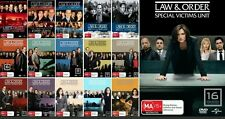 Law & Order Special Victims Unit SVU Series Complete Seasons 1 - 16 /DVD Sets