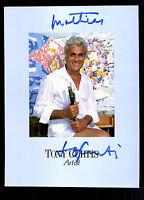 Tony Curtis Autogrammkarte Original Signiert ## BC G 13960