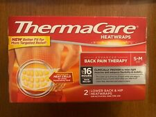 THERMACARE HEATWRAPS ADVANCED BACK PAIN THERAPY SIZE S-M 2/CT >EXP:12/20<